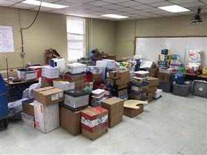 Supplies for Seminole Co. Schools donated by Sequatchie Co Schools